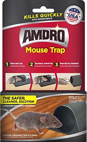 Amdro B07L4B3B38 Mouse Trap Reusable, Kills 12 Mice, Plum