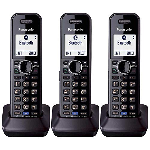 Panasonic KXTGA950B Dect 6.0 Handset 2-Line Landline Cordless Expansion Handset (3-Pack)