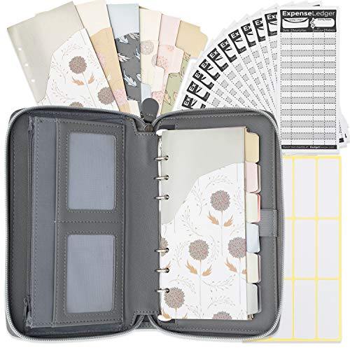 All-in-One Cash Envelopes Wallet-12 Budget Envelopes & Budget Sheets with Cell Phone Pouch by Budget Keeper