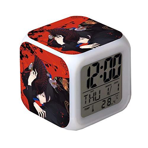 ZGSP Black Butler, Alarm Clock, Anime Alarm Clock, Creative Gifts, Seven Color Alarm Clock, Alarm and Snooze Function, Date and Temperature, Calendar Bedroom Dormitory (5)