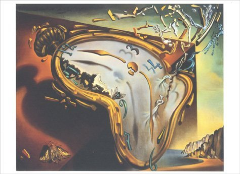 Soft Watch at the Moment of First Explosion - Salvador Dali Blank Card