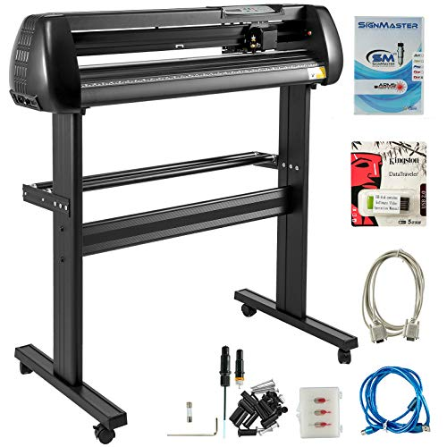 VEVOR Vinyl Cutter 34 Inch Vinyl Cutter Machine 870mm Paper Feed Vinyl Plotters with Floor Stand Vinyl Plotter Adjustable Speed for Sign Making