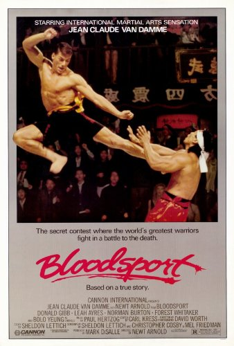 Bloodsport Movie Poster (11 x 17 Inches - 28cm x 44cm) (1988) Style A -(Jean-Claude Van Damme)(Leah Ayres)(Roy Chiao)(Donald Gibb)(Bolo Yeung)(Norman Burton)