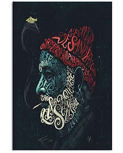 Elyvato Steve Zissou Smoking Mans Poster Wall Art Home Decor Gifts for Lovers Painting