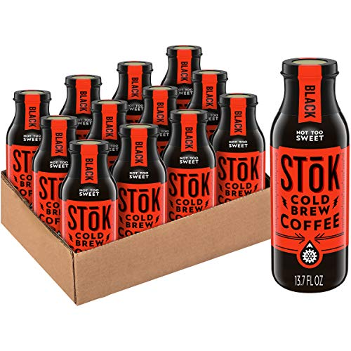 SToK Cold-Brew Coffee, Not Too Sweet, 13.7 oz. Bottle (Pack of 12)