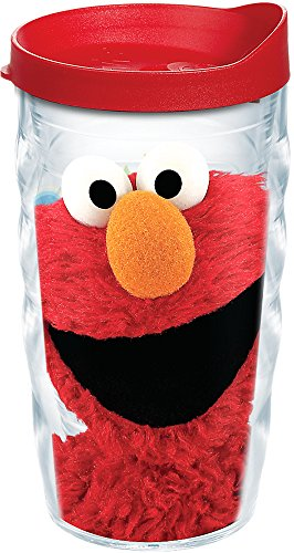 Tervis Sesame Street - Elmo Insulated Tumbler with Wrap and Red Lid, 10 oz Wavy - Tritan, Clear