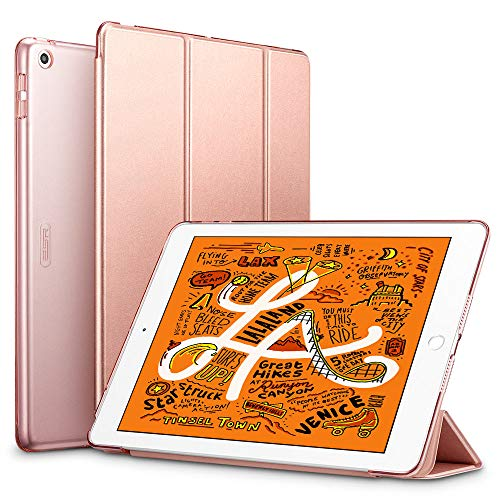 ESR for iPad Mini 5 Case 7.9' 2019 [A2133/A2124/A2126/A2125], Yippee Trifold Smart Case Auto Sleep/Wake, Lightweight Stand Case Hard Back Cover for iPad Mini 5th Gen, Rose Gold