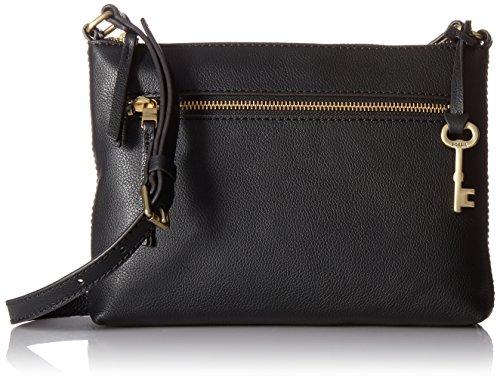 Fossil Women's Fiona Leather Small Crossbody Handbag, Black
