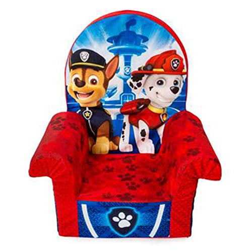 Marshmallow Furniture Children's Foam Toddler High Back Chair Kid's Furniture for Ages 18 Months Old and Up, Paw Patrol