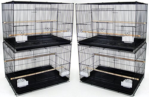 Lot of Breeding Bird Flight Cages for Canary Parakeet Aviaries Budgies Lovebird Finch (Large 30' Black)