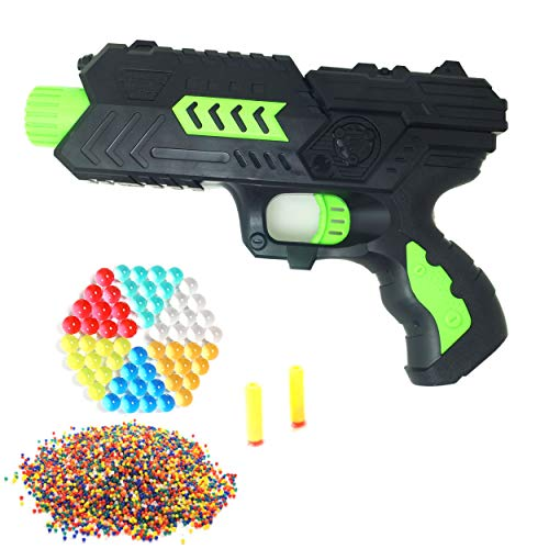 Cp-Tree Toy CS Game Gun Shooting 2-in-1 Air Soft Foam Bullet and 8400pcs Water Polymer Ball Pistol Projectile (Green)