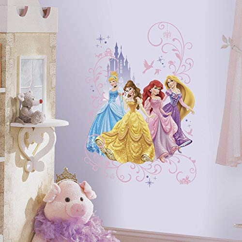 RoomMates Disney Princess Wall Graphix Peel And Stick Giant Wall Decals,Multicolor