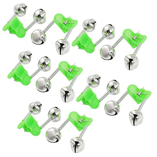 """""""You Caught a Fish"""",Alarm Fishing Tools, 10/50 PCS Fishing Pole Bells with Dual Alert Rings Bite Indicators, Night Fishing Rod Bait Alarm Bell, Alarm Bell Rod Clip Tip Fishing Accessories (10 PCS)"""