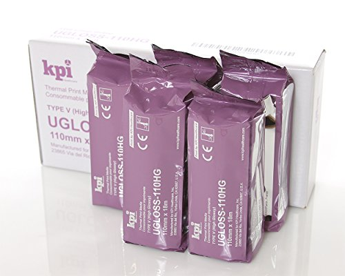 Compatible UPP-110HG High Gloss Ultrasound Paper Film/Media KPI-UGloss 110HG (5 Rolls per Box) UPP 110HG Equivalent for UPX898 and UPD898 100% Guaranteed!!!