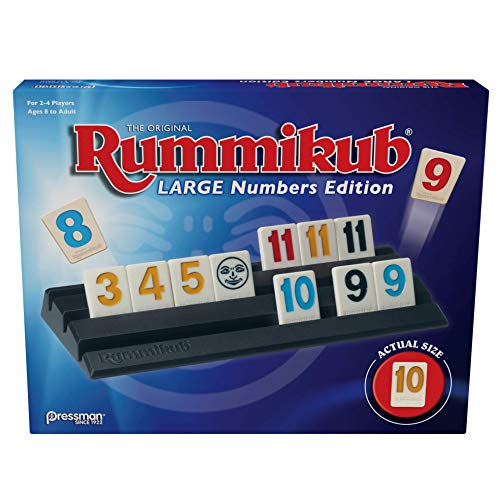 Pressman Rummikub Large Numbers Edition - The Original Rummy Tile Game