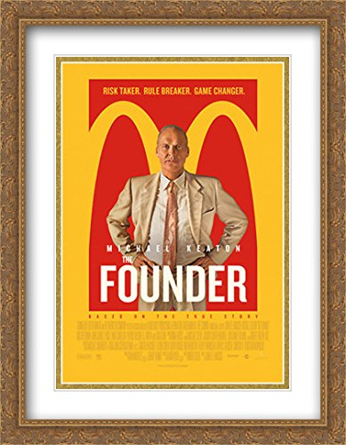 The Founder 28x36 Double Matted Large Large Gold Ornate Framed Movie Poster Art Print