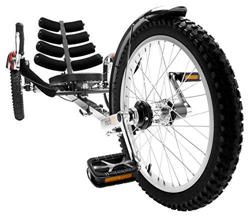 Mobo Cruiser Shift 3-Wheel Recumbent Bicycle Trike. Reversible Adult Tricycle Bike, black, 20-Inch