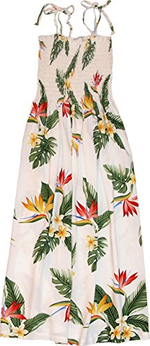 RJC Womens Bird of Paradise Display Elastic Tube Top Sundress in White - XL