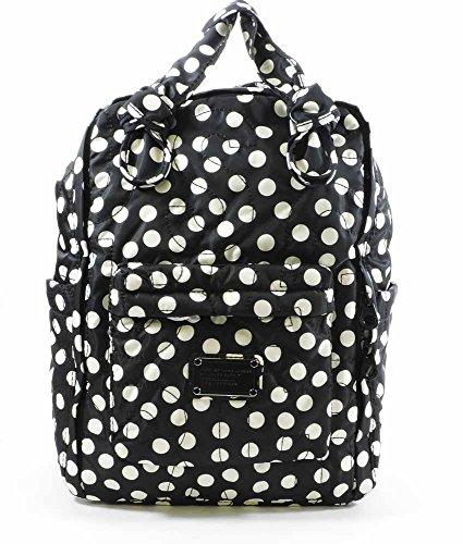 MARC BY MARC JACOBS Pretty Nylon Polka Dot Knapsack Backpack - Black/White