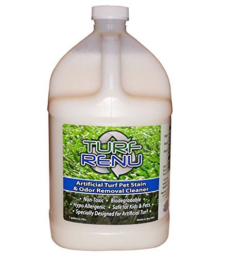 TURF RENU Tr10101 Bio-Enzymatic Cleaning Solution for Synthetic/Artificial Turf and Pet Odor Control, 1-Gallon