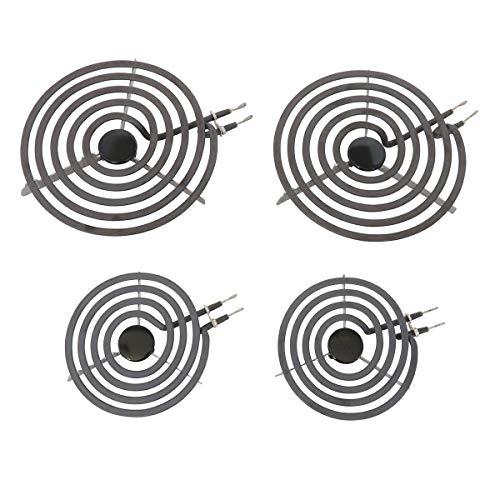 Kitchen Basics 101: 4 Piece Set MP22YA Electric Range Burner Surface Element (2) MP15YA 6', (2) MP21YA 8'