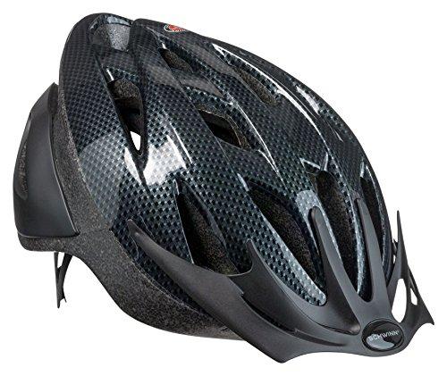 Schwinn Thrasher Bike Helmet, Lightweight Microshell Design, Adult, Carbon