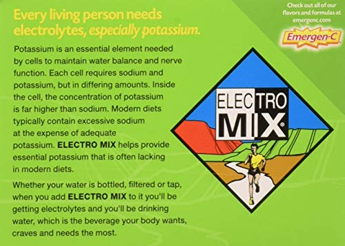 ALACER EMERGEN-C,ELECTRO MIX,LIME, 30 Count, Pack of 4