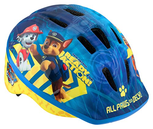 Licensed Paw Patrol Toddler and Kids Bike Helmet, Toddler, All Paws, All Paws Blue (PP78801AZ-6)