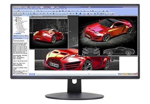 Sceptre E248W-19203R 24' Ultra Thin 75Hz 1080p LED Monitor 2x HDMI VGA Build-in Speakers, Metallic Black 2018