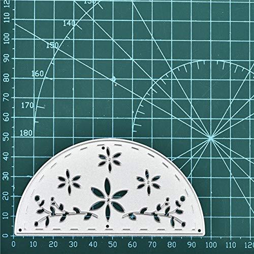 Metal Cutting Dies Semicircle Doily Fold Card Lace Edge Scrapbook Paper Craft Album Card Punch Art Cutter,Dies