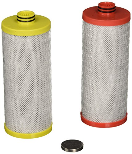 Aquasana AQ-5200R Replacement Filter Cartridges for 2-Stage Under Sink Water Filtration System,Red and Yellow
