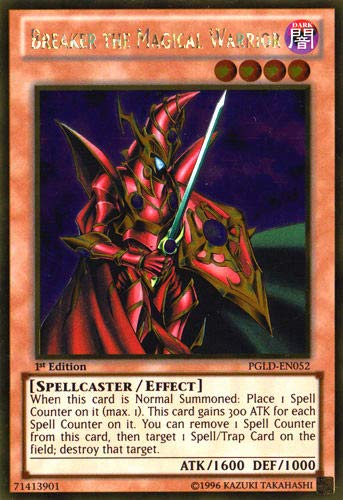 YU-GI-OH! - Breaker The Magical Warrior (PGLD-EN052) - Premium Gold - 1st Edition - Gold Rare