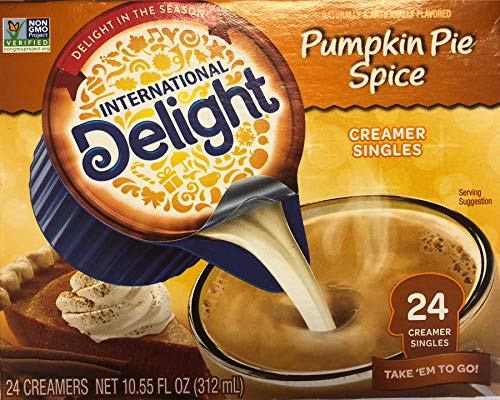 International Delight Coffee Creamer Singles, Pumpkin Pie Spice, 24 Count 10.55 oz