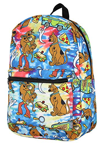 Scooby Doo Themed Allover Design Tie Dye Travel Laptop Backpack