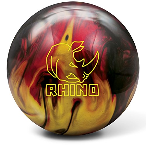 Brunswick Rhino Bowling Ball, Red/Black/Gold, 12 lb