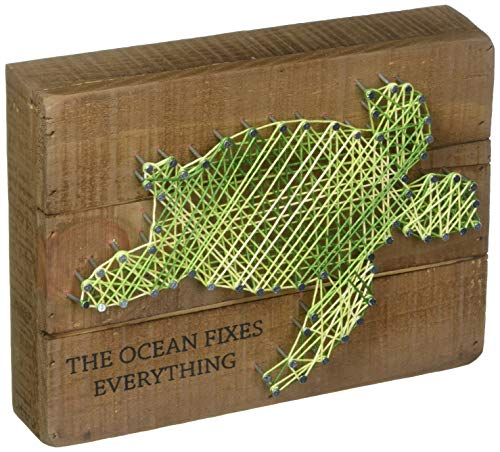 Primitives by Kathy String Art Box Sign, 8 x 6, The Ocean Fixes Everything
