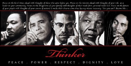The Thinker II by Design Max Art Print Poster 36x18   King  Obama  Malcom X  Mandela  Marley