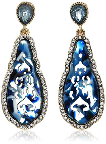 Lonna & Lilly Women's Gold Lapis Post Drop Earrings, One Size