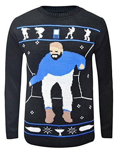 Forever Womens Hotline Bling Drake Graham Inspired Christmas Sweater Jumper Black