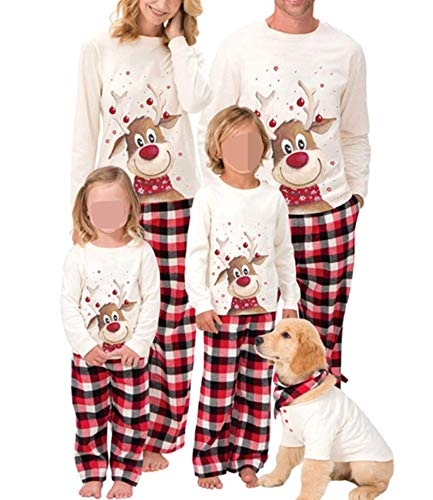 Family Christmas Pjs Matching Sets Baby Christmas Matching Jammies for Adults and Kids Holiday Xmas Sleepwear Set (A Style , Kids/ 8T )