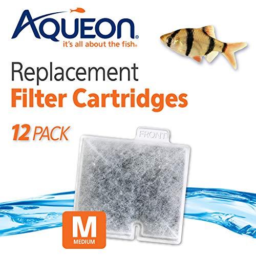 Aqueon QuietFlow Filter Cartridge, Medium, 12 Cartridges (Pack of 1)