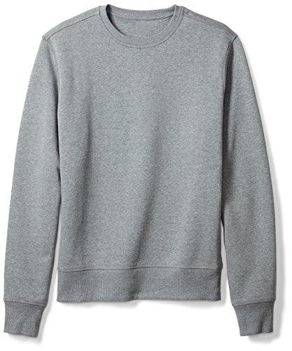 Amazon Essentials Men's Long-Sleeve Crewneck Fleece Sweatshirt, Light Grey Heather, Small