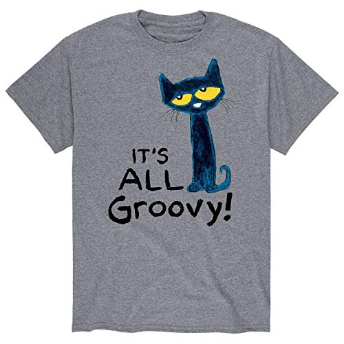 Pete The Cat It's All Groovy - Men's Short Sleeve Graphic T-Shirt Athletic Heather