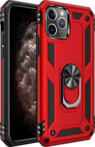 iPhone 11 pro Case [ Military Grade ] 15ft. Drop Tested Protective Case | Kickstand | Compatible for Apple iPhone 11 pro 5. 8 Inch-Red