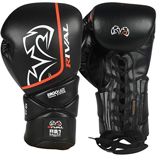 RIVAL Boxing RS1 2.0 Ultra Pro Lace-Up Sparring Gloves - 14 oz. - Black