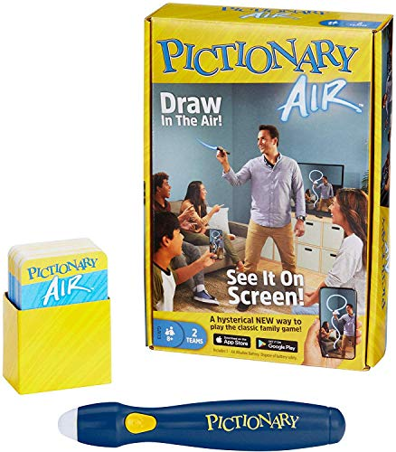 Pictionary Air Drawing Game, Family Game with Light-up Pen and Clue Cards, Links to Smart Devices, Makes a Great Gift for 8 Year Olds and up [Amazon Exclusive]