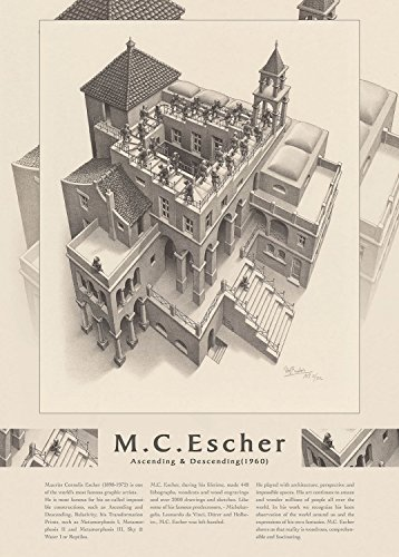 EPOCH 500 Pieces Jigsaw M.C.Escher Rising and Falling (1960) (38x53cm)