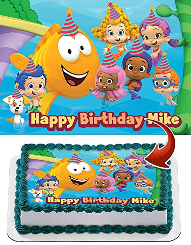 Bubble Guppies Edible Image Cake Topper Party Personalized 1/4 Sheet