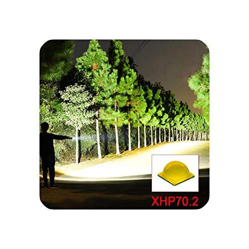 100000 Lumen Xhp70.2 Most Powerful Flashlight Torch Flashlight 26650 Xhp50 Lantern 18650 Usb Hand Light Huntinglamp,Ghs522A1,Black