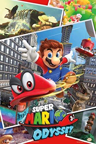 Pyramid America Super Mario Odyssey Video Game Gaming Laminated Dry Erase Sign Poster 12x18